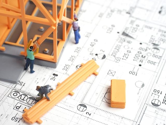 住宅の建設工事のイメージ