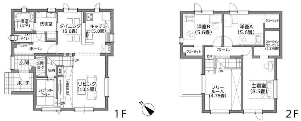 札幌市近郊 N様邸 間取り図