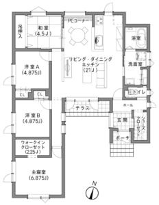 札幌市Y様邸 間取り図