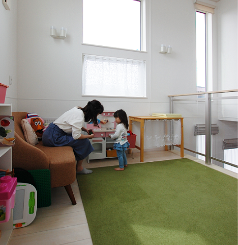 子ども用スペースのスキップフロア