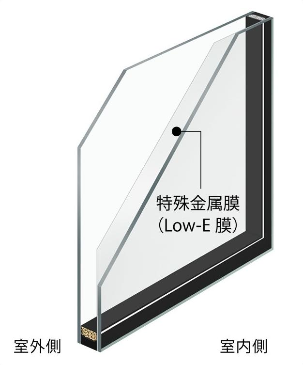 クリアタイプのペアガラス